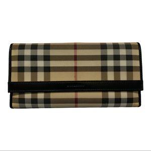 Burberry Vintage Nova Check Striped Wallet *flaw